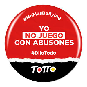 Chapa anti-bullying - NO JUEGO CON ABUSONES
