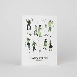 Tarjeta Eco-Friendly semillas - Happy Verde