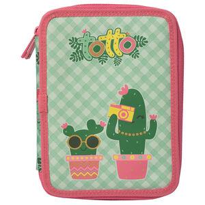 Estuche escolar dos compartimentos - Lovely Cactus