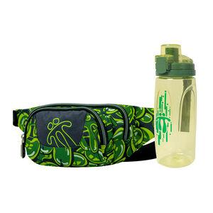 ¡Cómpralo junto! Riñonera Gancho + Botella Botel color verde