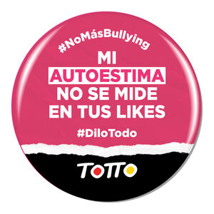 Chapa anti-bullying - MI AUTOESTIMA NO SE MIDE EN LIKES