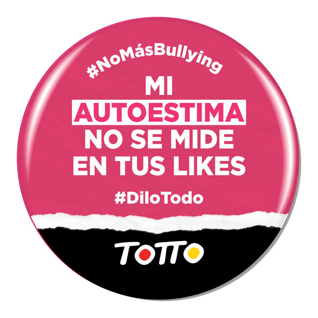 Chapa anti-bullying - MI AUTOESTIMA NO SE MIDE EN LIKES image number null