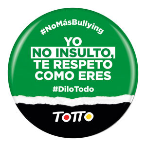 Chapa anti-bullying - NO INSULTO TE RESPETO