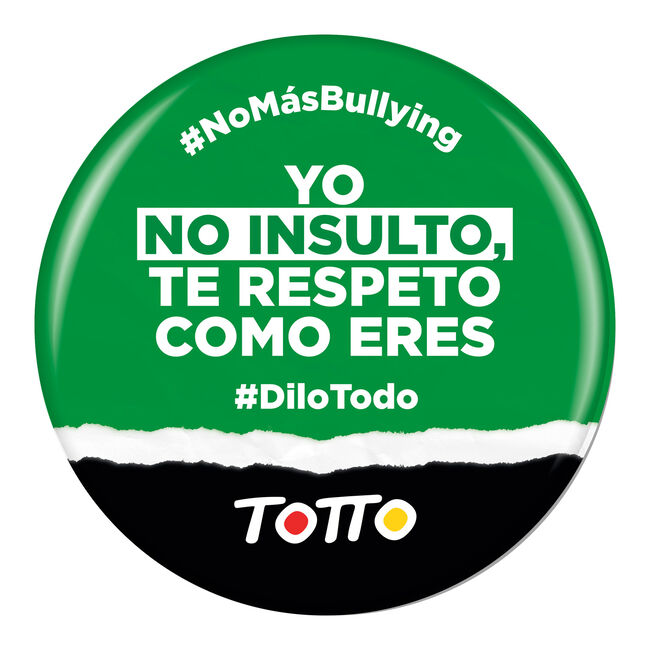 Chapa anti-bullying - NO INSULTO TE RESPETO image number null