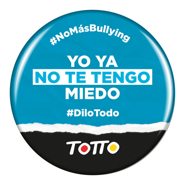 Chapa anti-bullying - YA NO TE TENGO MIEDO image number null