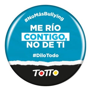 Chapa anti-bullying - ME RÍO CONTIGO, NO DE TI
