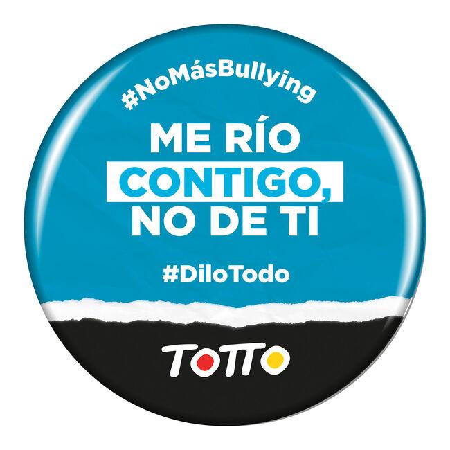 Chapa anti-bullying - ME RÍO CONTIGO, NO DE TI image number null
