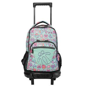Mochila escolar pequeña ruedas - Resma