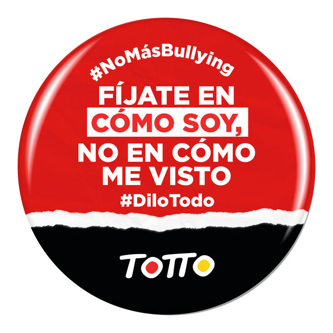 Chapa anti-bullying - FÍJATE EN CÓMO SOY image number null