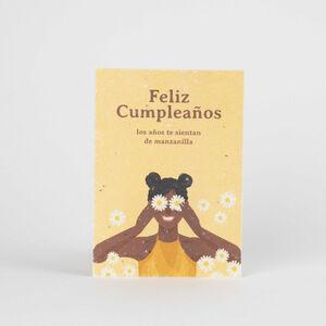Tarjeta Eco-Friendly semillas - Feliz Cumpleaños